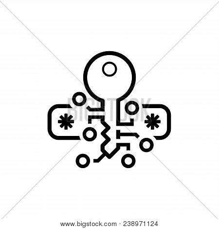 Crypto Protection Icon. Modern Computer Network Technology Sign. Digital Graphic Symbol. Passcode Fi