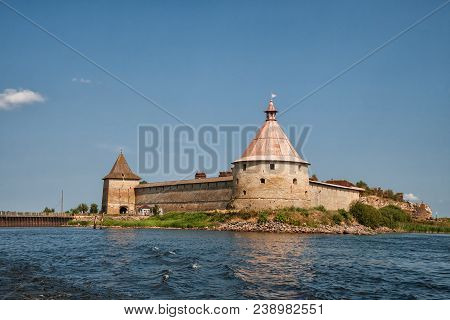 Fortress Oreshek - Ancient Russian Fortress On Nut Island In Source Of The Neva River, Leningrad Reg