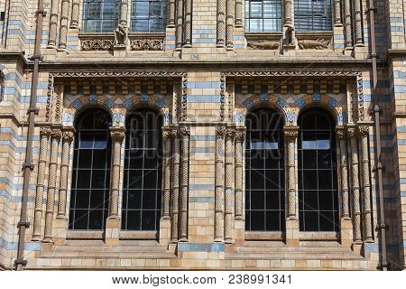London, United Kingdom - June 23, 2017: Natural History Museum With Ornate Terracotta Facade,  Victo