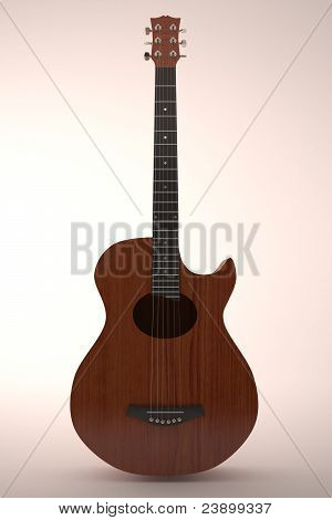 classic guitar in white background