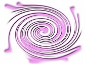 a computer generated violet twirl on a white background poster
