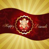 beautiful hindu religion god lord ganesh ji artistic diwali background poster