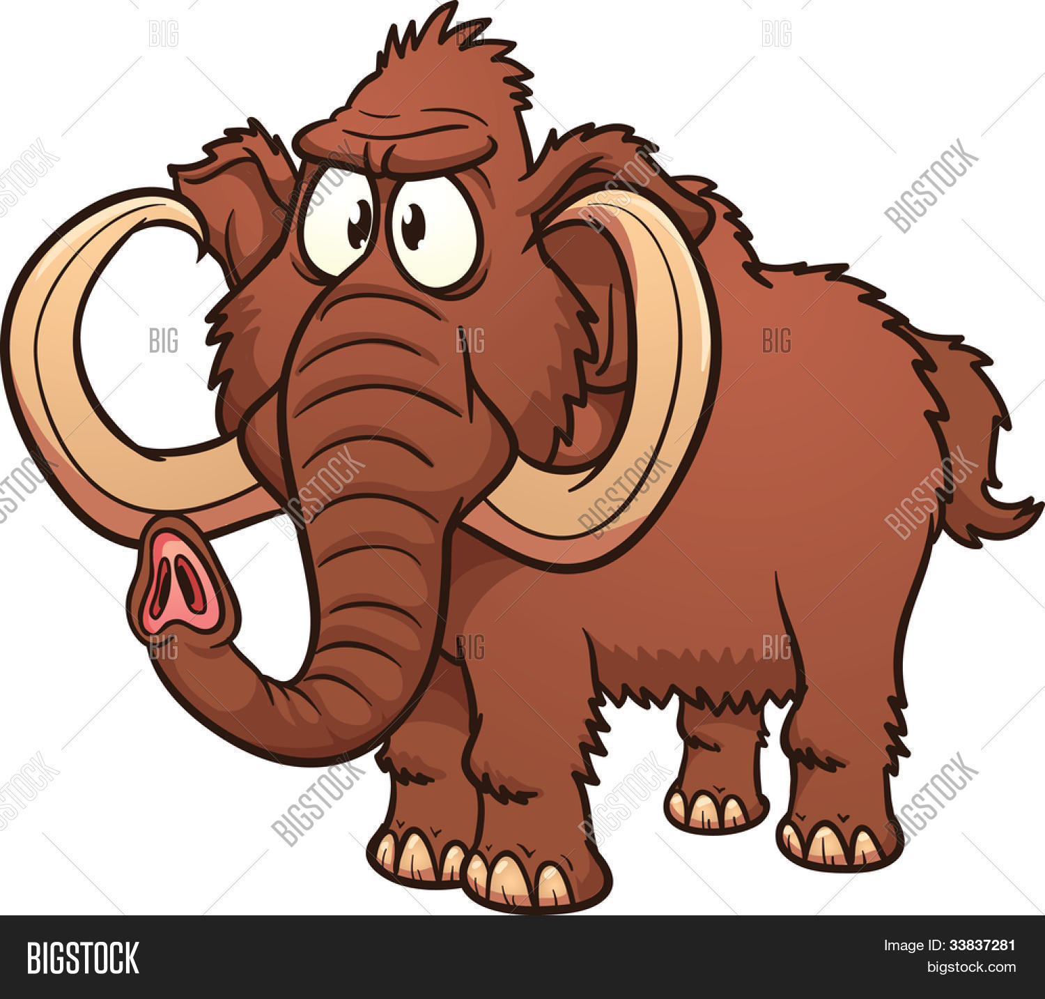 Cartoon mammoth. Vector illustration with simple gradients. All in a single  layer. 54e6691e9