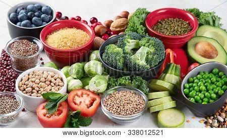 Health Vegan And Vegetarian Food Concept.
