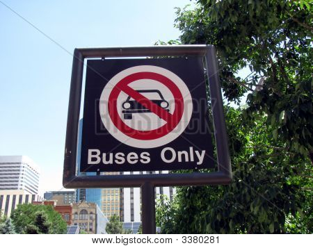 Buses Only Sign