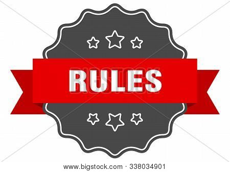 Rules Red Label. Rules Isolated Seal. Rules