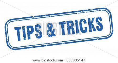 Tips And Tricks Stamp. Tips Tricks Square Grunge Sign