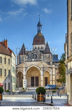 Basilique Notre-dame De Beaune (basilica Our Lady) Is A Canonical Ensemble Dating From The Second Ha