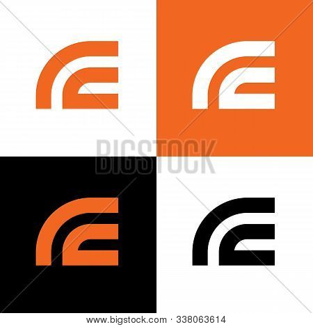Initial Letter Rc Logo Design Template - Vector