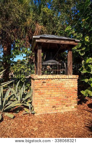 Pennock Plantation Bell Found On The Grounds Of The Jupiter Inlet Lighthouse In Jupiter, Florida