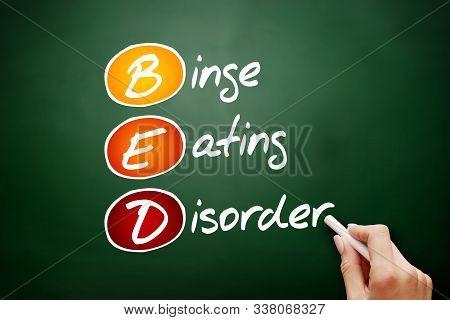 Bed - Binge Eating Disorder Acronym, Health Concept Background