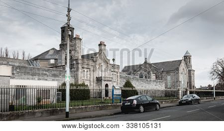 Dublin, Ireland - February 13, 2019: Architectural Detail Of Arbor Hill Prison At The Downtown Histo