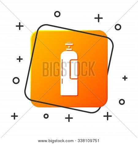 White Industrial Gas Cylinder Tank For All Inert And Mixed Inert Gases Icon Isolated On White Backgr
