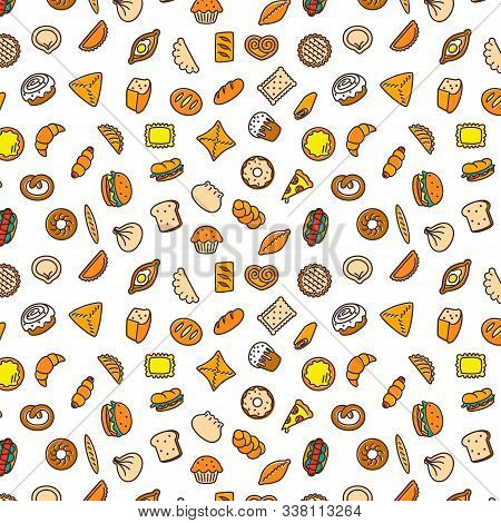 Bakery Products. Fast Food. Patty Pattern Color