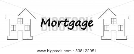 Vector Illustration: Mortgage Loan To Buy A House. Returns Mortgage Loan With Interest. Infographics