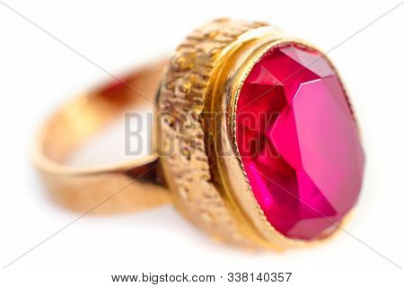 Old Jewelry Ring Isolated On A White Background