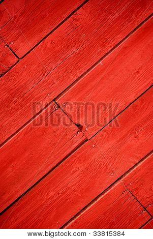 Diagonal Red Barn Wood