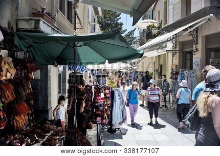 Commercial Street In Athens