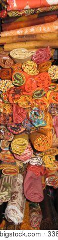 Orange Scraps Of Fabric