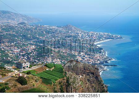 View Of Cabo Girao Cliff And Camara De Lobos Town, Madeira Island, Portugal