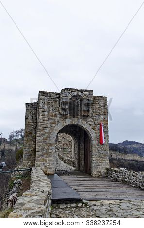 The Main Entrance Of Tsarevets, Medieval Stronghold Located On A Hill With The Same Name In Veliko T