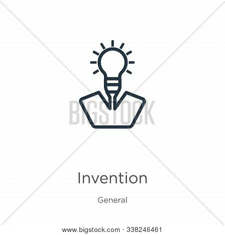 Invention Icon. Thin Linear Invention Outline Icon Isolated On White Background From General Collect