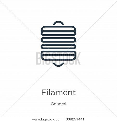Filament Icon. Thin Linear Filament Outline Icon Isolated On White Background From General Collectio