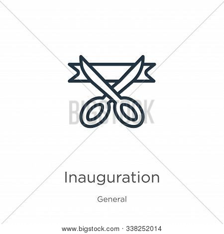 Inauguration Icon. Thin Linear Inauguration Outline Icon Isolated On White Background From General C