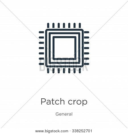Patch Crop Icon. Thin Linear Patch Crop Outline Icon Isolated On White Background From General Colle