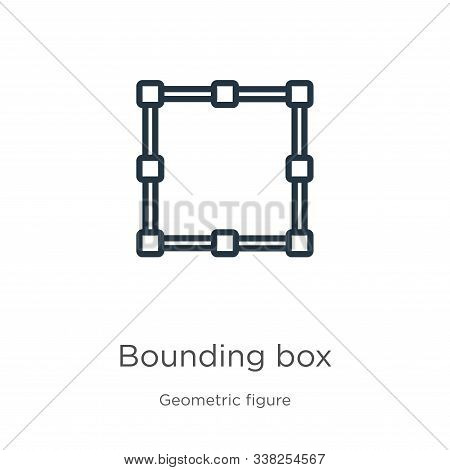Bounding Box Icon. Thin Linear Bounding Box Outline Icon Isolated On White Background From Geometric