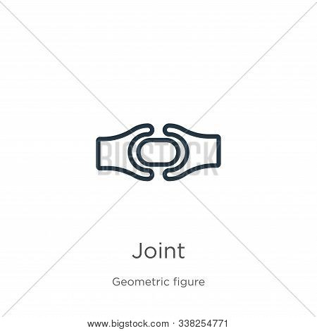 Joint Icon. Thin Linear Joint Outline Icon Isolated On White Background From Geometric Figure Collec