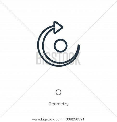Redo Icon. Thin Linear Redo Outline Icon Isolated On White Background From Geometry Collection. Line