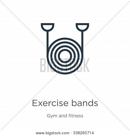 Exercise Bands Icon. Thin Linear Exercise Bands Outline Icon Isolated On White Background From Gym A
