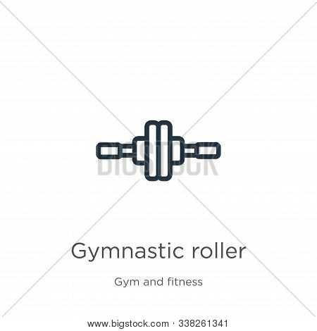 Gymnastic Roller Icon. Thin Linear Gymnastic Roller Outline Icon Isolated On White Background From G