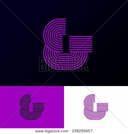 Ampersand Logo. & Icon Consist Of Some Strips, Isolated On A Different Backgrounds. & Monogram. Netw