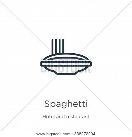 Spaghetti Icon. Thin Linear Spaghetti Outline Icon Isolated On White Background From Hotel And Resta