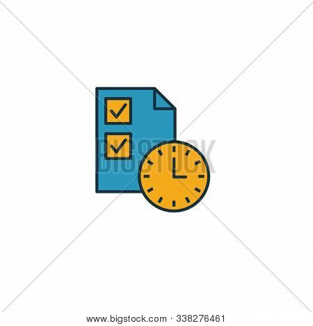 Project Duration Icon. Simple Element From Risk Management Icons Collection. Creative Project Durati