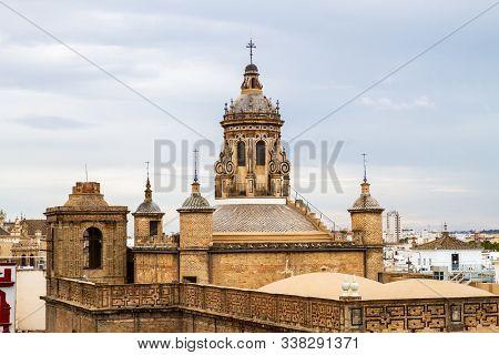 Sevilla, Spain - September, 21:  View Of Sevilla Mushrooms , Also Known As Metropol Parasol Project
