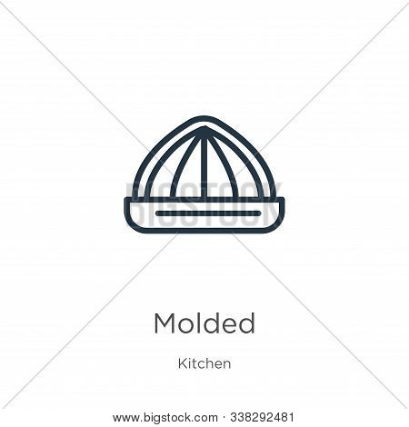Molded Icon. Thin Linear Molded Outline Icon Isolated On White Background From Kitchen Collection. L