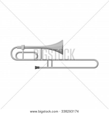 Isolated Object Of Cornet And Pipe Icon. Graphic Of Cornet And Tuba Stock Symbol For Web.