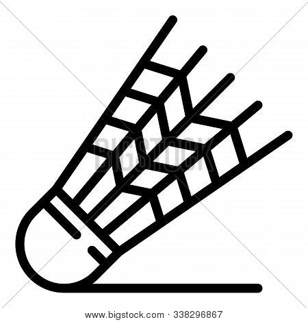 Shuttlecock Icon. Outline Shuttlecock Vector Icon For Web Design Isolated On White Background