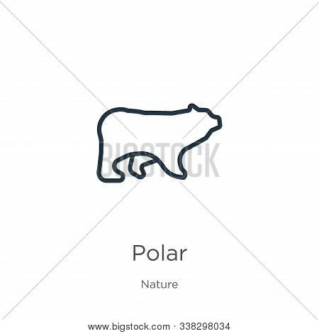 Polar Icon. Thin Linear Polar Outline Icon Isolated On White Background From Nature Collection. Line