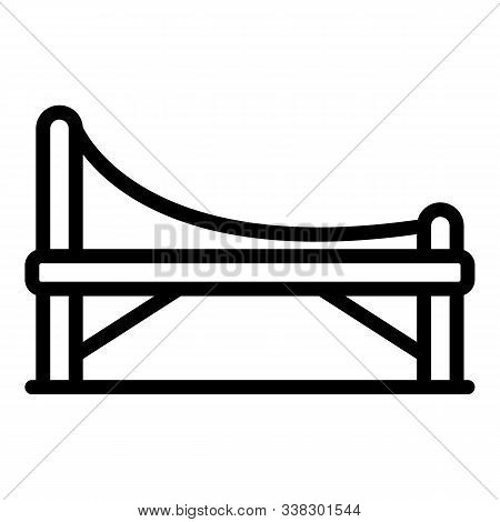 Bench With Intricate Back Icon. Outline Bench With Intricate Back Vector Icon For Web Design Isolate