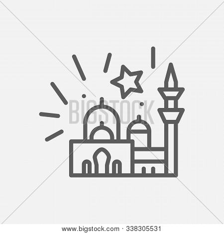 Ramazan Icon Line Symbol. Isolated Vector Illustration Of Icon Sign Concept For Your Web Site Mobile
