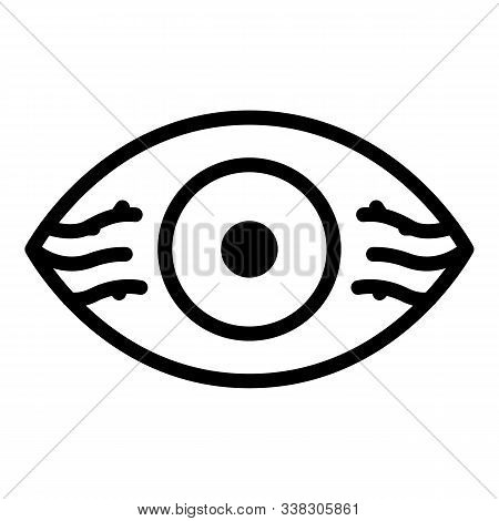 Eye With Vessels Icon. Outline Eye With Vessels Vector Icon For Web Design Isolated On White Backgro