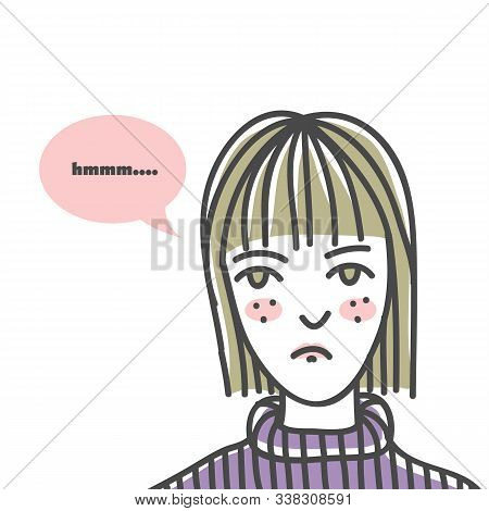 Ugly Woman Line Art Vector Illustration For Your Company Or Brand
