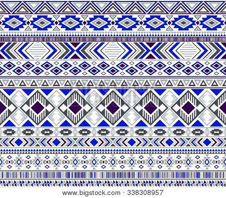 Sacral Tribal Ethnic Motifs Geometric Seamless Background. Rich Gypsy Tribal Motifs Clothing Fabric