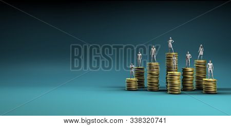 Employee Compensation Report and Salary Review  3D Illustration Render
