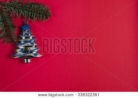 Christmas Or New Year Decoration Background With Copy Space