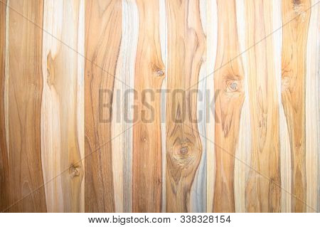 Old Wood Plank Brown Texture For Decoration Background. Wooden Wall All Antique Cracking Furniture P